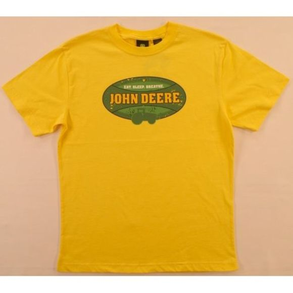John Deere Other - John Deere Yellow Tee Eat Sleep Breathe 14-16 NWT